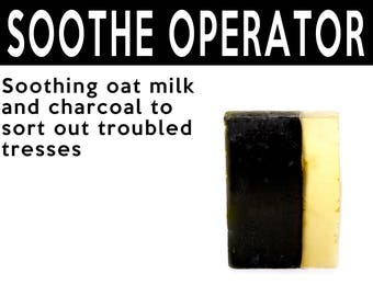 Soothe Operator Solid Shampoo. Fair Trade Organic Vegan Cruelty-Free Cosmetics. 5% of Proceeds Proudly Go To Grassroots Charities