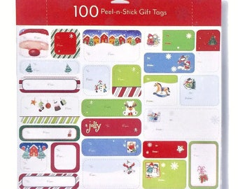 100 Peel-n-Stick Holiday Gift Tags (fantg100)