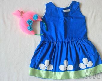 Girl Halloween costume trolls poppy dress Poppy trolls costume Poppy costume Girl poppy dress girl trolls dress