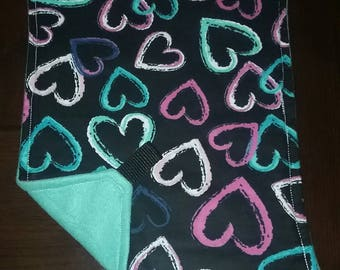 Bargain Bin Item, XSmall Aqua Hearts Pet Hammock, Exotic Pet Hammock, Rat Hammock, Sugar Glider Hammock, Degu Hammock, Small Animal Hammock