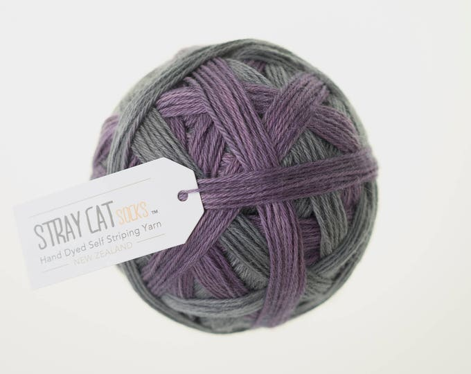 VICTORIA - vibrant hand dyed self striping sock yarn