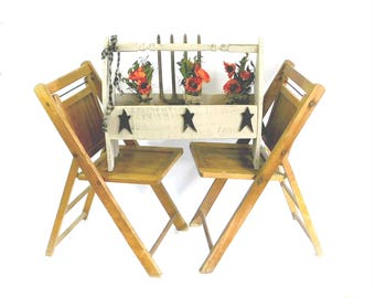 pair of vintage slatted wooden folding chairs wood folding chairs wedding seating event