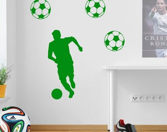 Running Football Wall Sticker A74