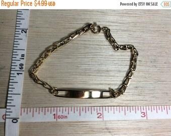 """10% OFF 3 day sale Vintage 7"""" Gold Toned Speidel Bracelet Used"""