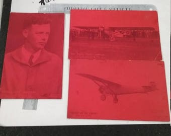 10% OFF 3 day sale Vintage used Charles Lindbergh Post card lot
