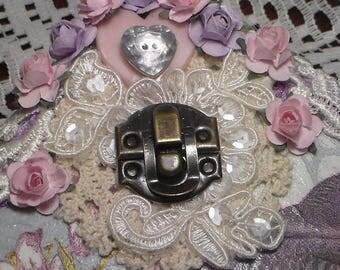 Antique Bronze Box Closures, Embellishment, Metal Latch, Box Latch, Lock,