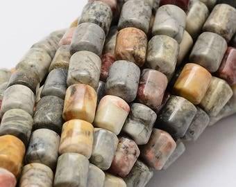 Pearl, semi-precious stone, mineral 8x6 mm, 1 strand