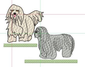 Bearded Collie embroidery design