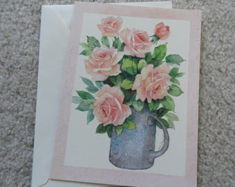 Thinking of you vintage greeting card - Free shipping