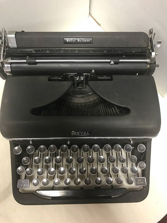 Royal portable typewriter and case