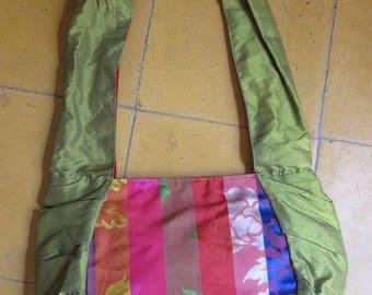 "DESTOCKAGRE: Bag «Rasmey""made of silk from Cambodia and Korea"