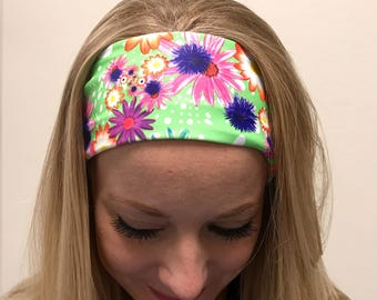 Yoga Headband ~ Yoga Head Wrap ~  Workout Headband ~ Running Headband ~ Fitness Headband ~ Hippie Headband ~ Boho Wide Headband