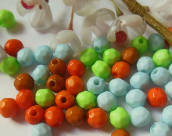 set of 50 plastic round beads