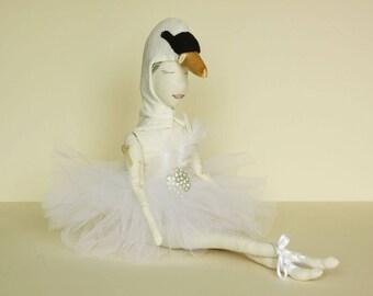Swan OOAK art doll