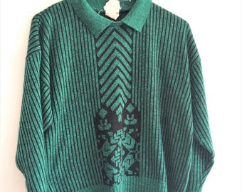 small vintage green hipster sweater