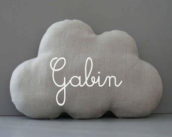Cushion cloud custom name. baby gift. personalized birthstone gift. customizable birth gift. baby shower gift
