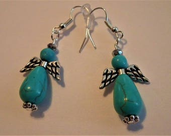 Turquoise Angels Earrings