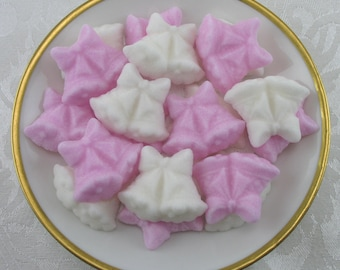 30 Pink & White Double Wedding Bell shaped sugar cubes for tea party, bridal shower, coffee, tea, wedding, shower, party