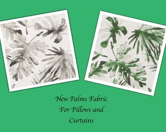 BRAND NEW Palms Leaf Fabric Pillow Covers, Pillow Cover, Indie Style, Beach Decor , Banana Leaf Pillows