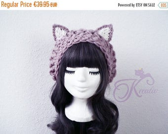 SALE Cat hat (rosewood)