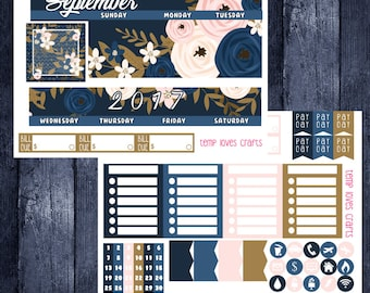 September Monthly Stickers for HAPPY PLANNER