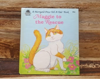 Maggie to the Rescue, 1986, Tell a tale book, vintage kids book