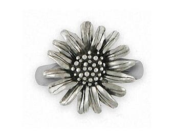 Daisy Ring Jewelry Sterling Silver Handmade Flower Ring DY4-R