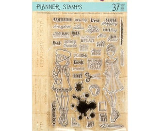 Julie Nutting Prima PLANNER Clear Stamps - CRAFT DAY - 911683 cc02