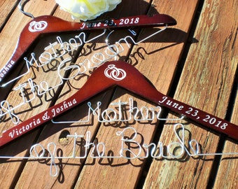 Sale of the Month Set of 2 Wedding Hangers/Mother of the Bride and Mother of the Groom/Personalized Hangers/Bridal hanger/ Bride / Weddings