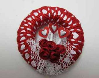 Valentine Wreath - dollhouse miniature 1:12 scale