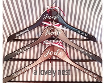 bridal hanger Wedding hanger personalized hangers bridal party bachelorette gifts