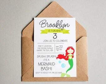Mermaid Birthday Invitation Mermaid Birthday Invite Mermaid Printable Mermaid Invite Editable Mermaid Invitation Template Birthday Invite