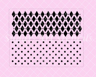 Polka dots Harlequin stencils SL20366