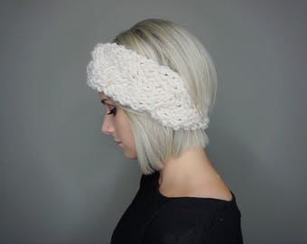 Braided Cable Ear Warmer | Charlie & Luna Co., Womens, Teens, Cable Knit, Hat, Ear Warmer, Head band, Warm, Soft, Thick