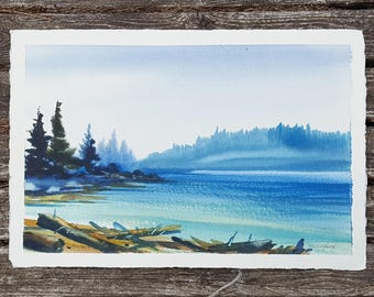 Serene Ocean - Original Watercolor painting