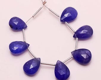 7 pc natural tanzanite faceted pear gemstone loose beads 32ct 11.5-13mm GW2952