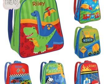 Little Kids Backpack, Personalized Childs Backpack, Toddler Backpack, Toy Bag, Personalized, Stephen Joseph, Gift For Boys, Little Boy Xmas