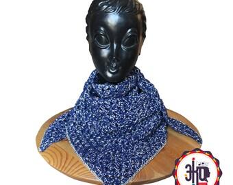 "shawl in cotton crochet ""MARINOR"""