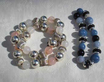 Lot Of Beaded Stretch Bracelets Restring Repurpose TLC