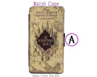 iPhone 8 Case - iPhone 8 Wallet Case - iphone 8 - iPhone 8 Wallet - Harry Potter iphone 8 case - Marauder Map iphone 8 case