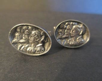 Fenwick and Sailor Royal Family Cuff Links/Sterling Heirloom/Mid Century Modern Cuff Links/Mad Men