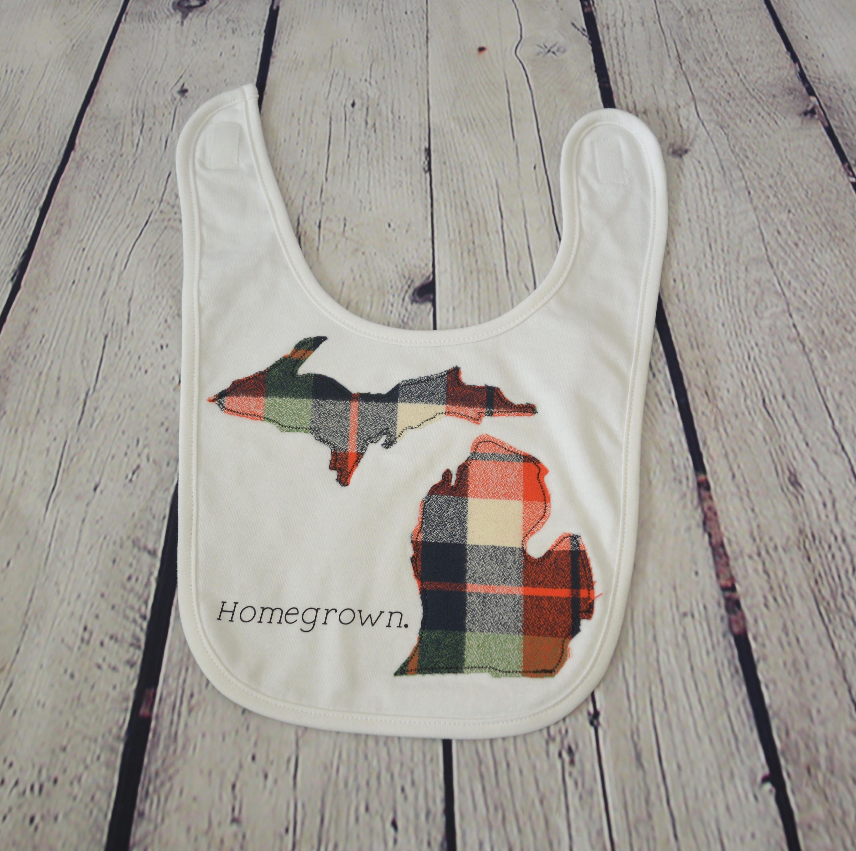 Michigan bib baby boy bib pure michigan michigan baby gift michigan bib baby boy bib pure michigan michigan baby gift made in negle Choice Image