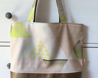Shopper, tote bag, beach bag, bag with metallic