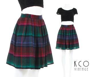 90s Mini Skirt Pleated Mini Skirt High Waisted Skirt GERRY WEBER Germany 90s Grunge Clothing Plaid Skirt 90s Clothing Women's Size SMALL