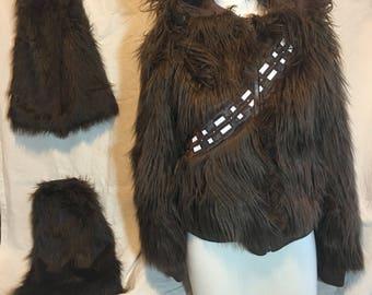 Chewbacca fur hoodie w/ fur booties