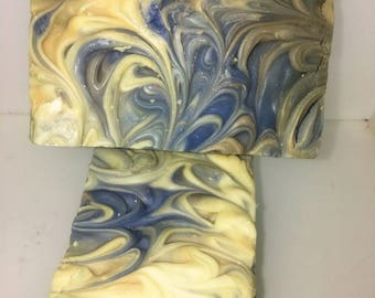 Gain scented Handmade Soap, fresh scent of gain scented tallow soap, hand and body soap bar