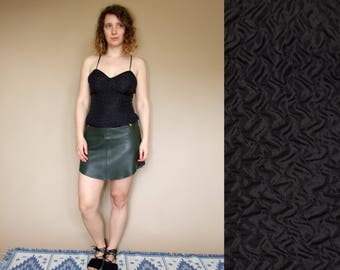 90's vintage women's Vera Mont open back black top