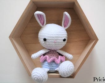 plush rabbit dancer star with crochet