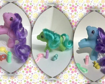 THREE - Mystery Trio - CUSTOM - Playful Babies Pony Baby Ponies