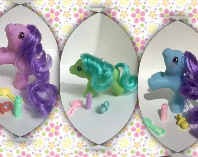 Featured listing image: PREORDER - Mystery Trio - CUSTOM - Playful Babies Pony Baby Ponies